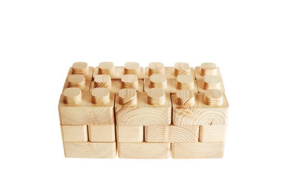 špudlo, dřevěné lego
