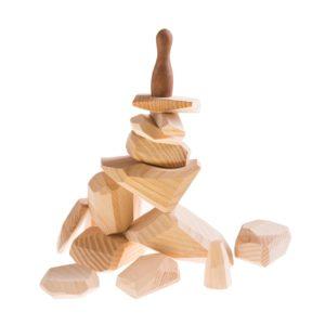 dřevěné hračky balanční kameny